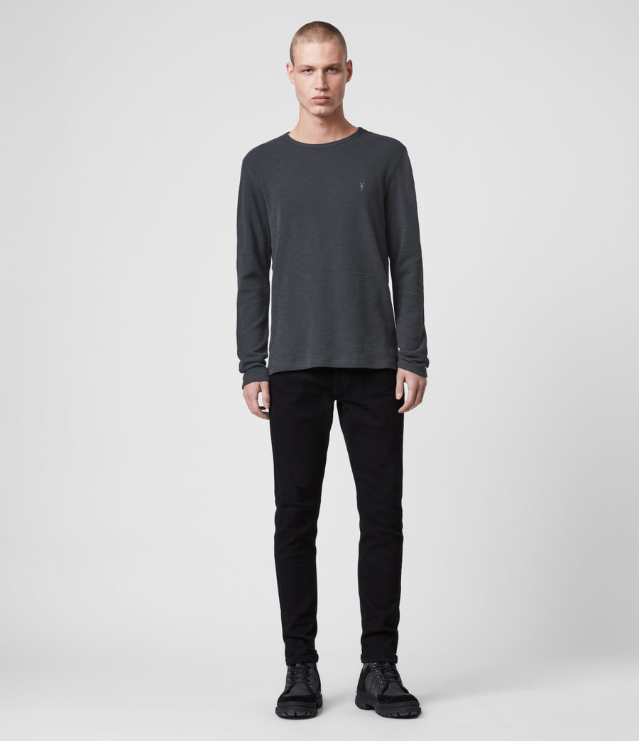 Men's Muse Long Sleeve Crew T-Shirt (ink_navy) - Image 3