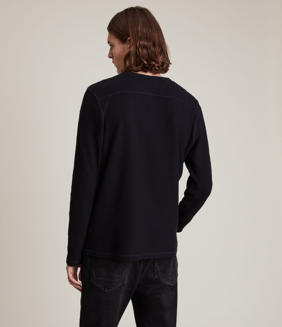 Men's Muse Long Sleeve Crew T-Shirt (ink_navy) - Image 4
