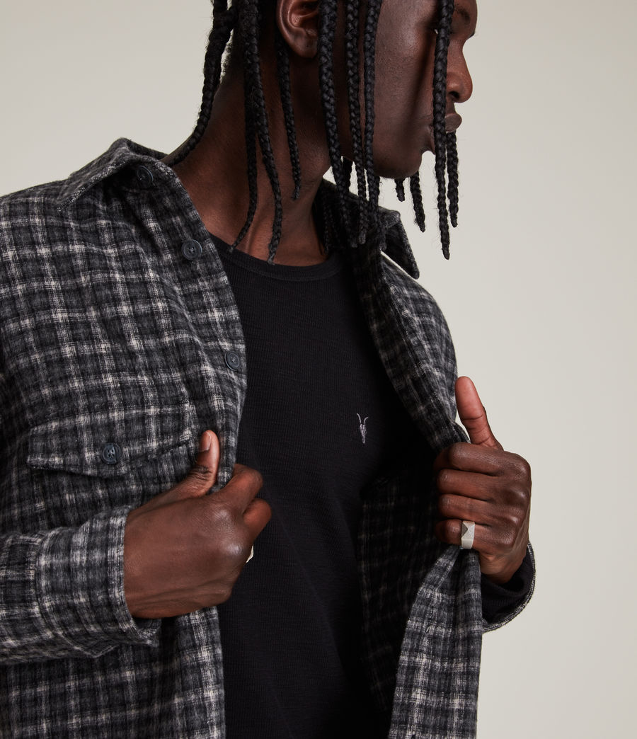 Mens Muse Long Sleeve Crew T-Shirt (jet_black) - Image 2