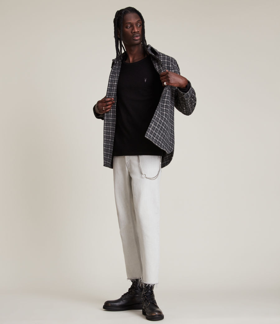 Mens Muse Long Sleeve Crew T-Shirt (jet_black) - Image 3