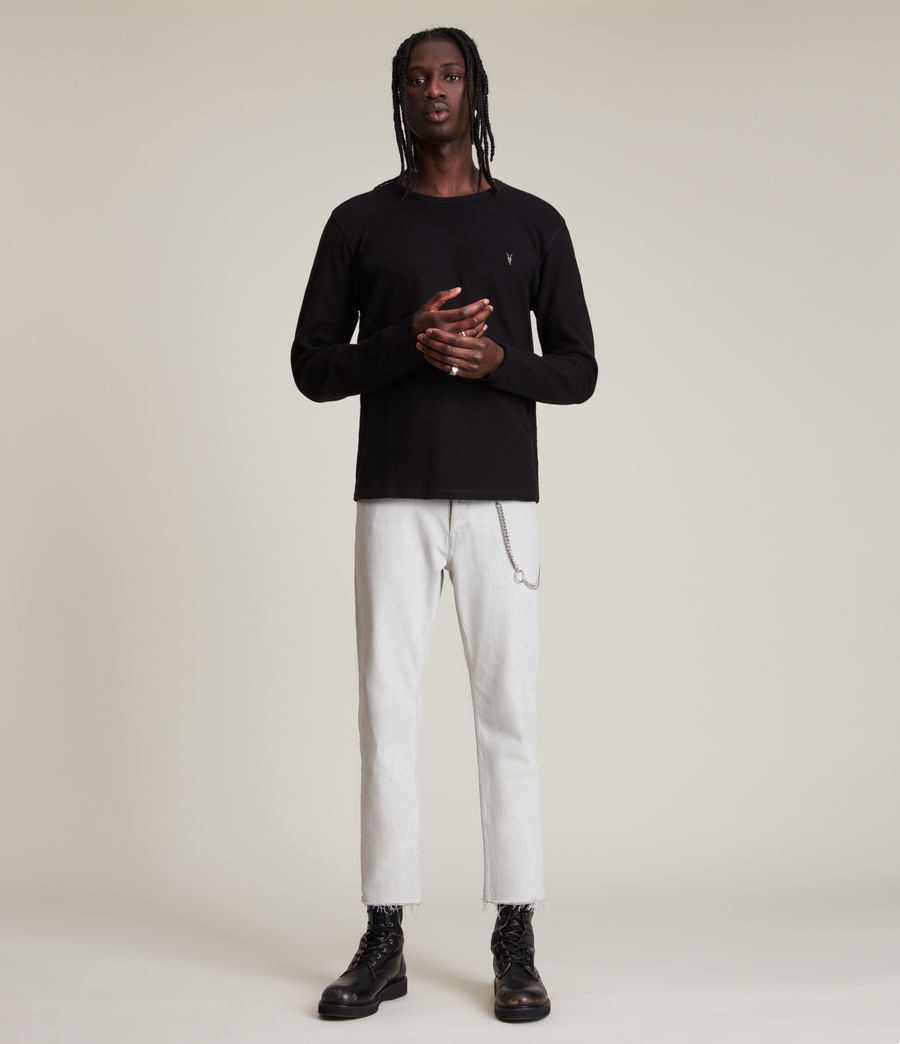 Mens Muse Long Sleeve Crew T-Shirt (jet_black) - Image 4