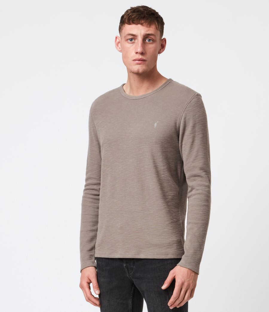 Men's Muse Long Sleeve Crew T-Shirt (flint_grey) - Image 1