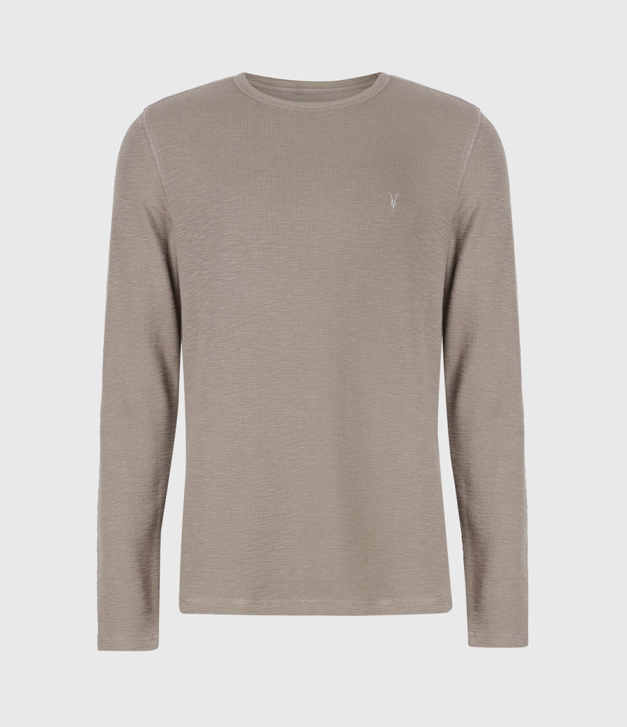 Men's Muse Long Sleeve Crew T-Shirt (flint_grey) - Image 2