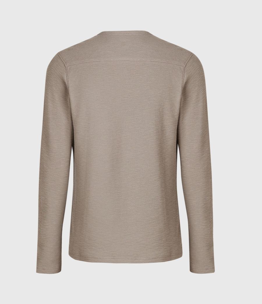 Men's Muse Long Sleeve Crew T-Shirt (flint_grey) - Image 3