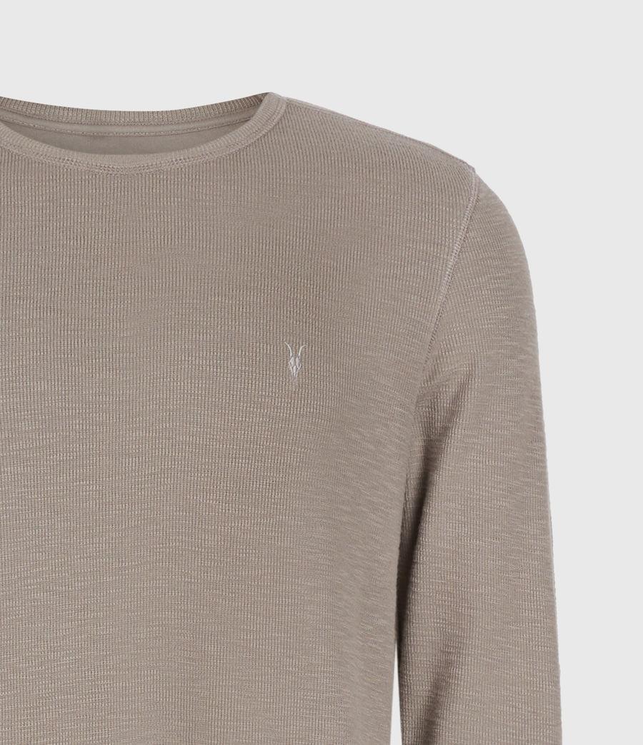 Men's Muse Long Sleeve Crew T-Shirt (flint_grey) - Image 4