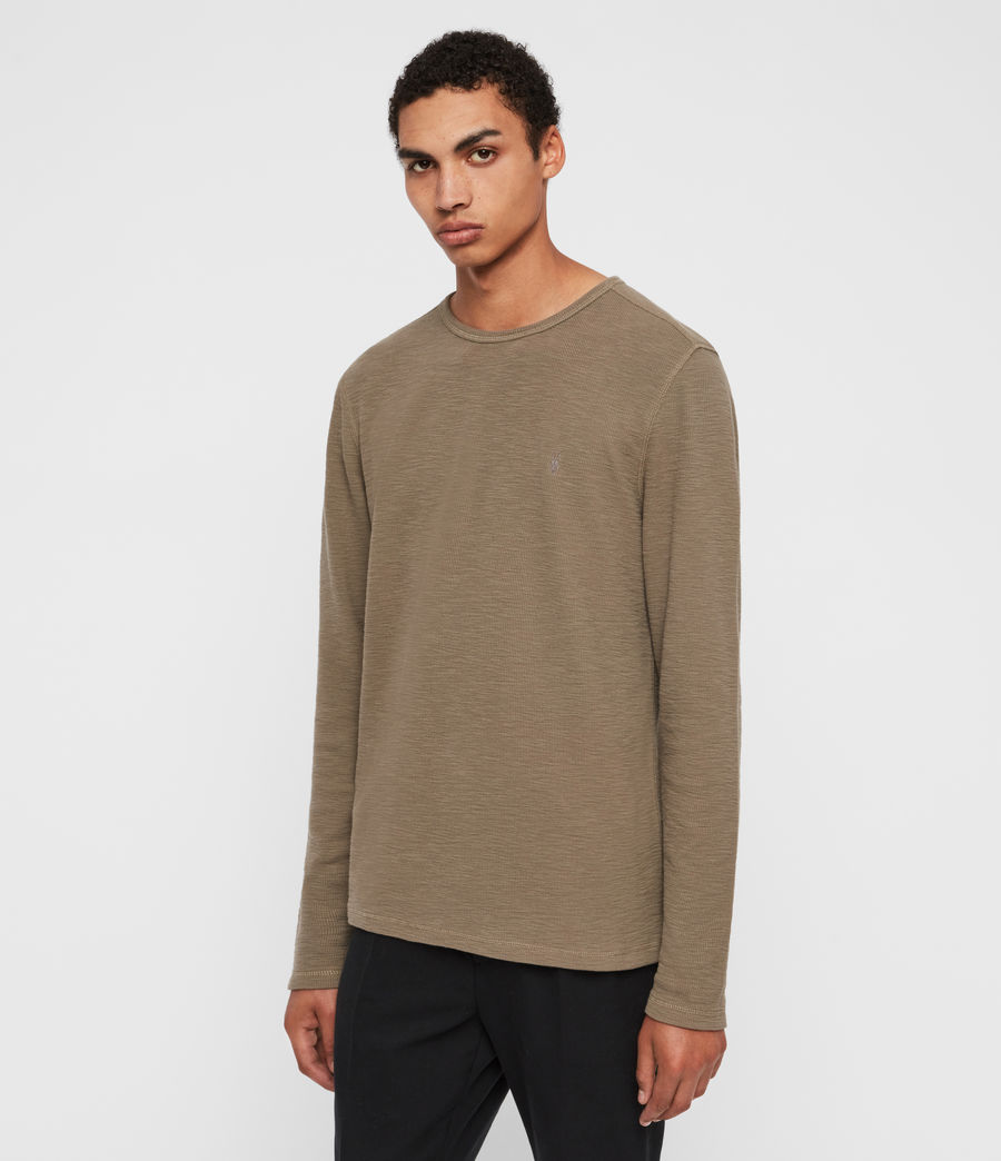 Mens Muse Long Sleeve Crew T-Shirt (beech_green) - Image 3