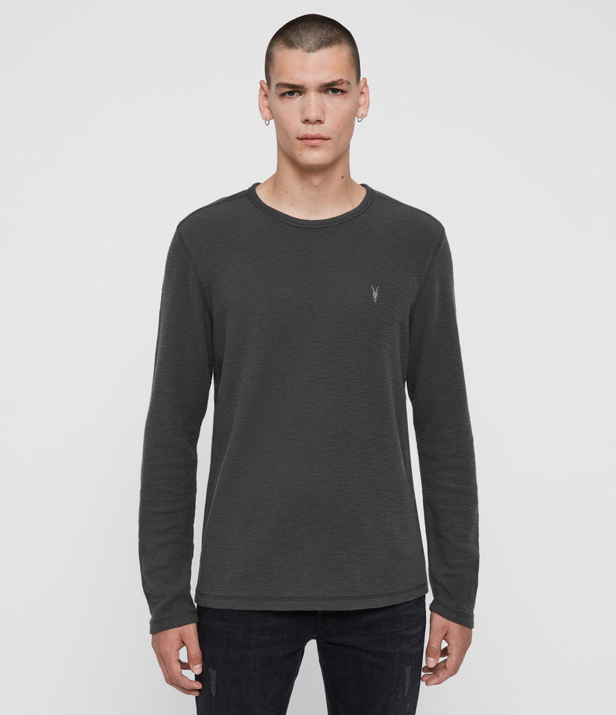 Men's Muse Long Sleeve Crew T-Shirt (ink_navy) - Image 1