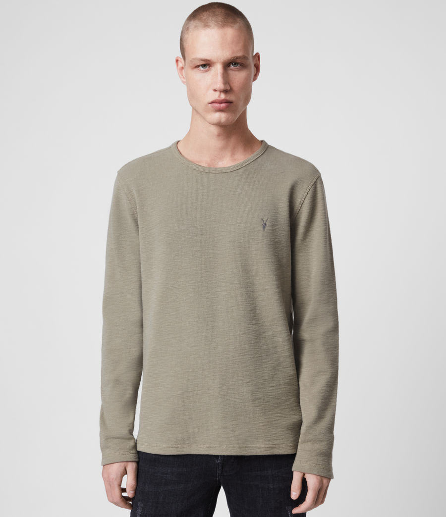 Mens Muse Long Sleeve Crew T-Shirt (beech_green) - Image 1