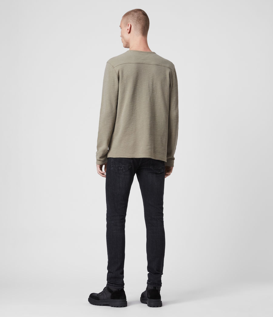 Mens Muse Long Sleeve Crew T-Shirt (beech_green) - Image 4