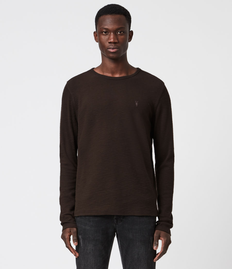 Men's Muse Long Sleeve Crew T-Shirt (earth_brown) - Image 1