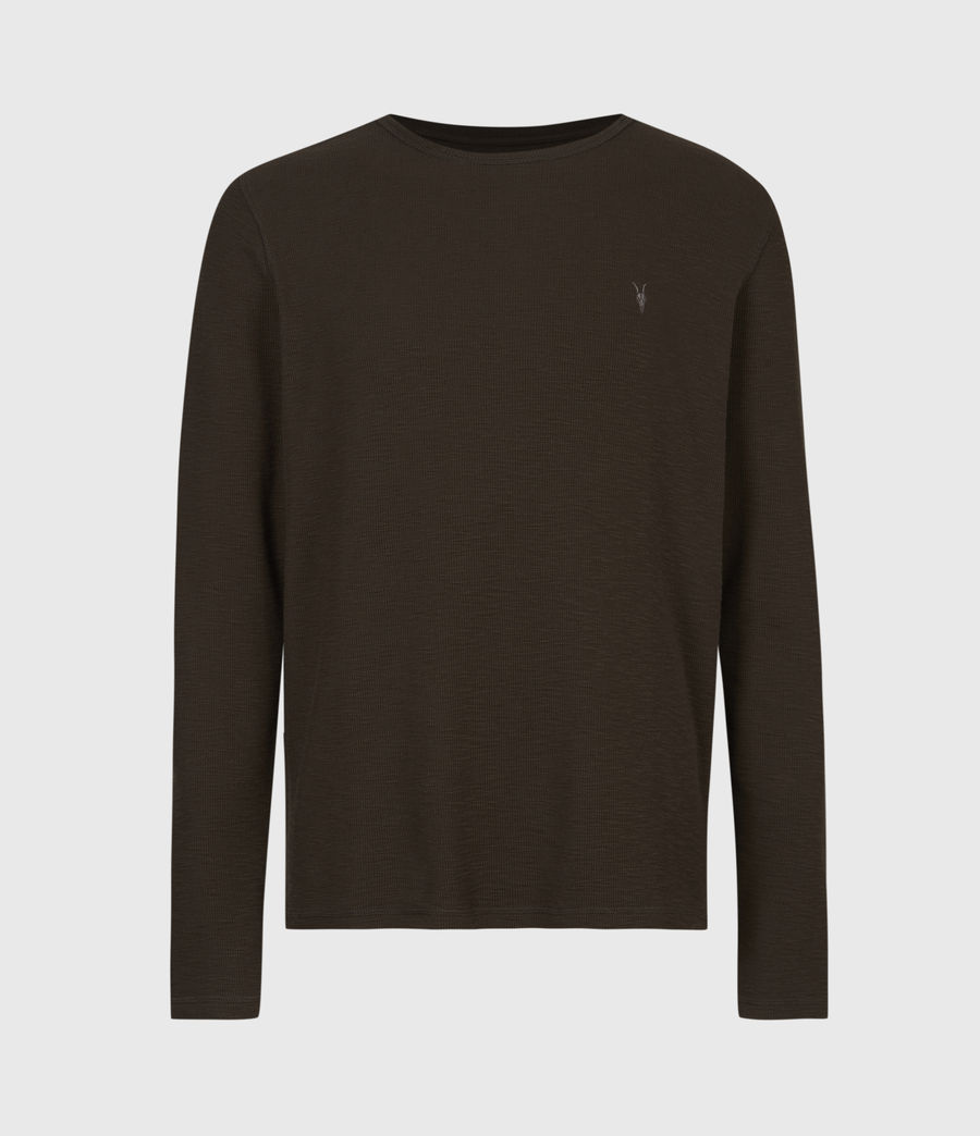 Men's Muse Long Sleeve Crew T-Shirt (earth_brown) - Image 2