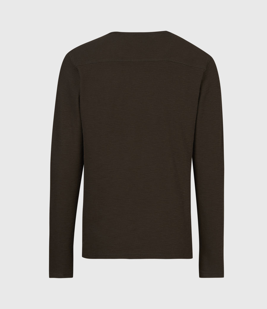 Men's Muse Long Sleeve Crew T-Shirt (earth_brown) - Image 3