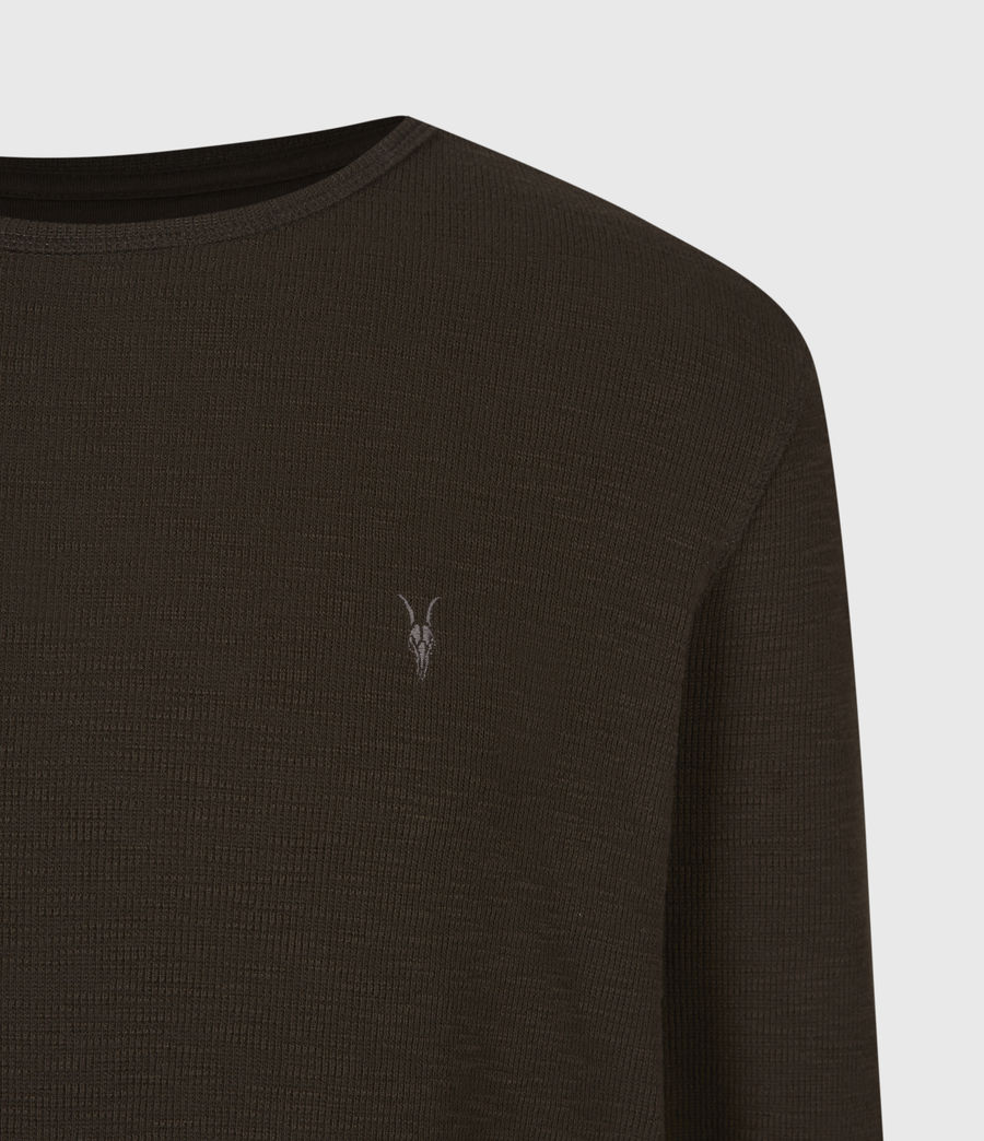 Men's Muse Long Sleeve Crew T-Shirt (earth_brown) - Image 5
