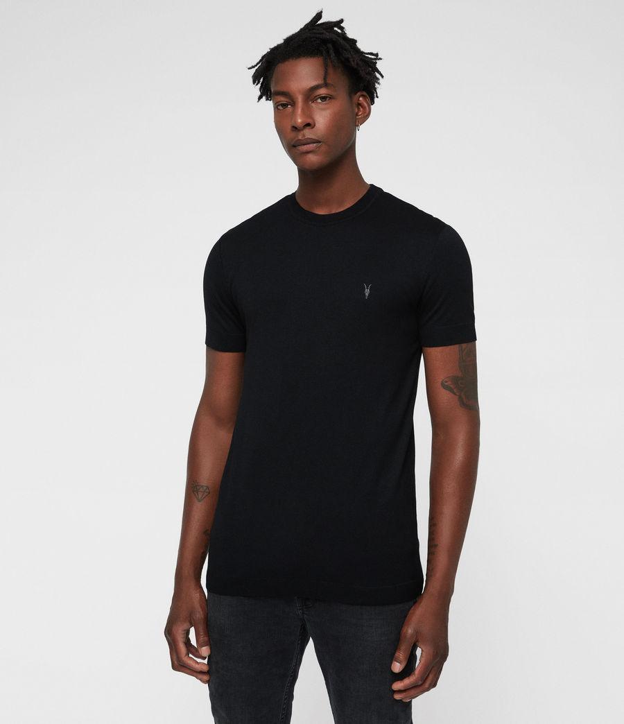 Mens Parlour Crew T-Shirt (black) - Image 1