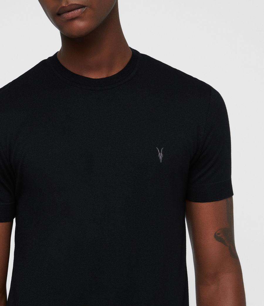 Mens Parlour Crew T-Shirt (black) - Image 2
