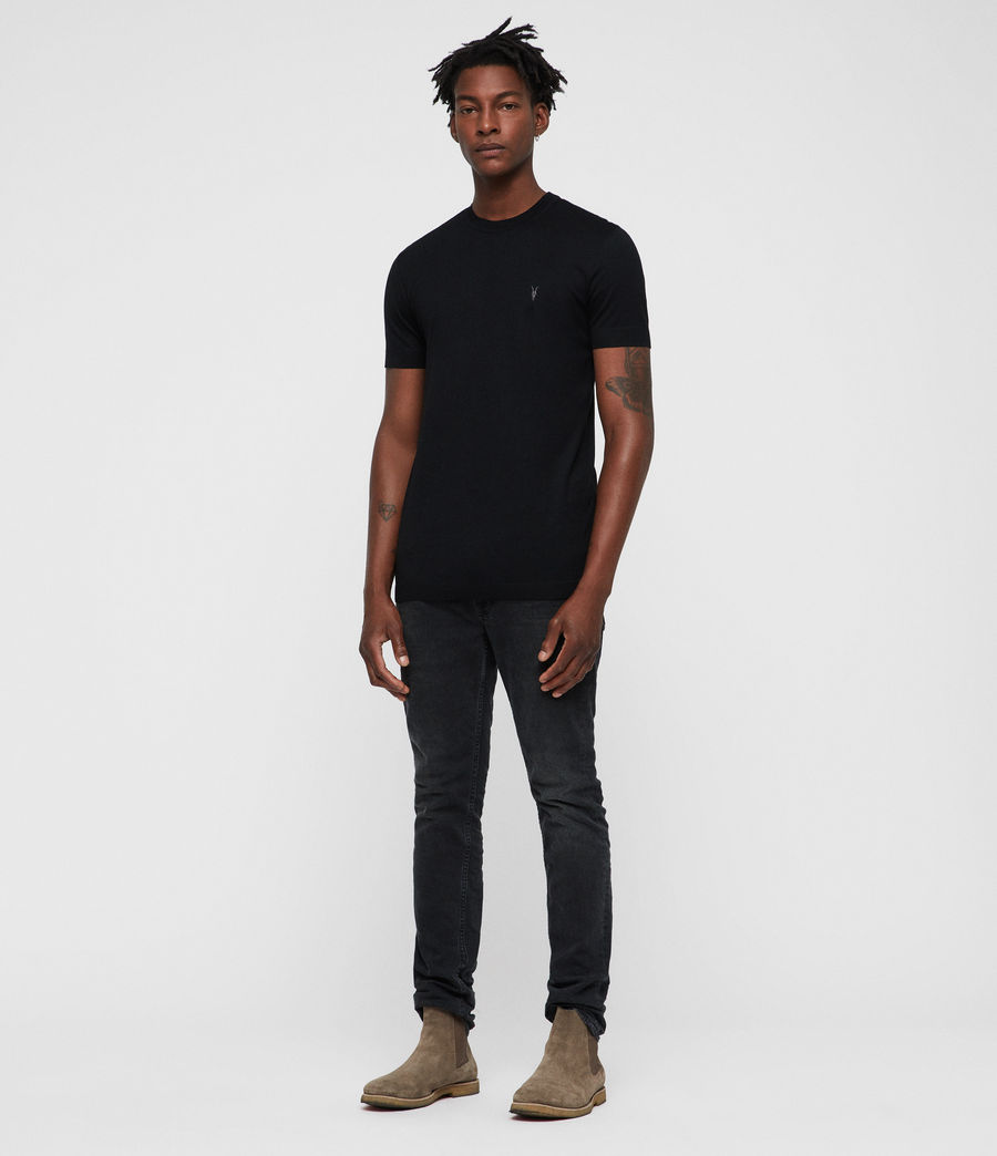 Hombres Parlour Crew T-Shirt (black) - Image 4