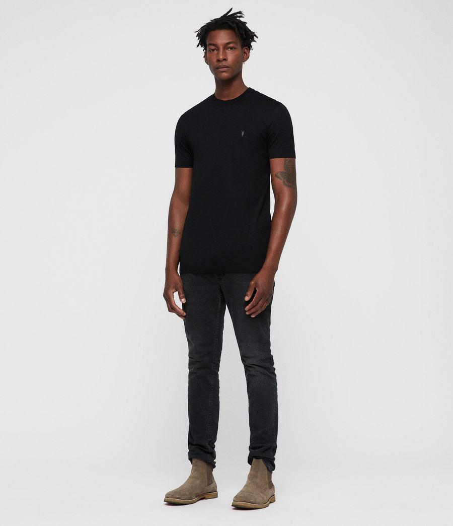 Mens Parlour Crew T-Shirt (black) - Image 4