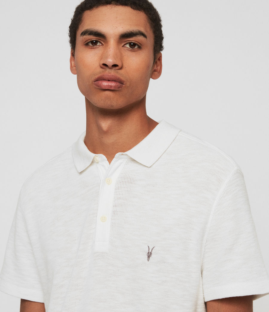 Mens Muse Short Sleeve Polo Shirt (optic_white) - Image 2