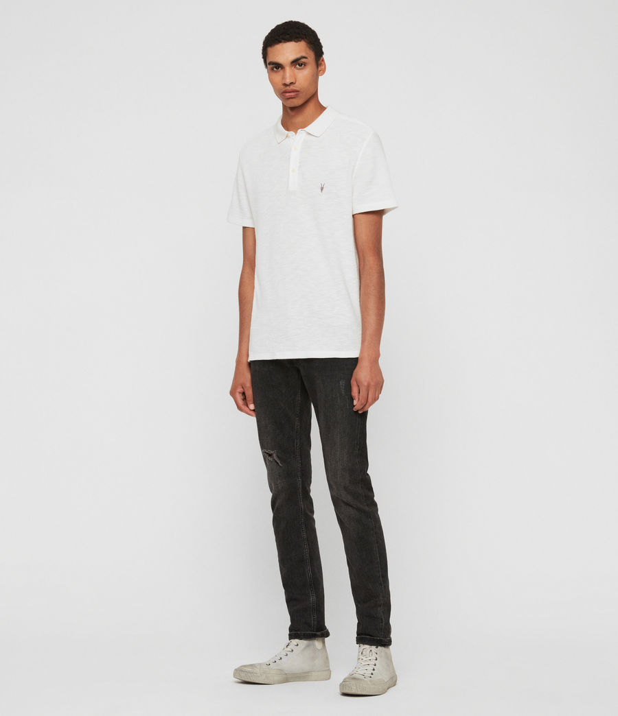 Uomo Polo Muse - Slim in cotone a maniche corte (optic_white) - Image 3