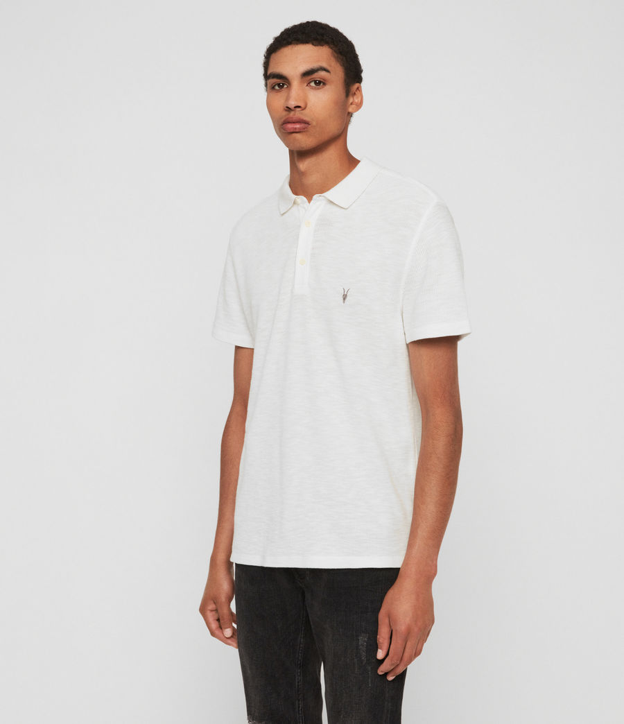 Mens Muse Short Sleeve Polo Shirt (optic_white) - Image 4