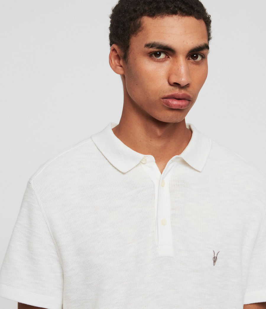 Mens Muse Short Sleeve Polo Shirt (optic_white) - Image 5