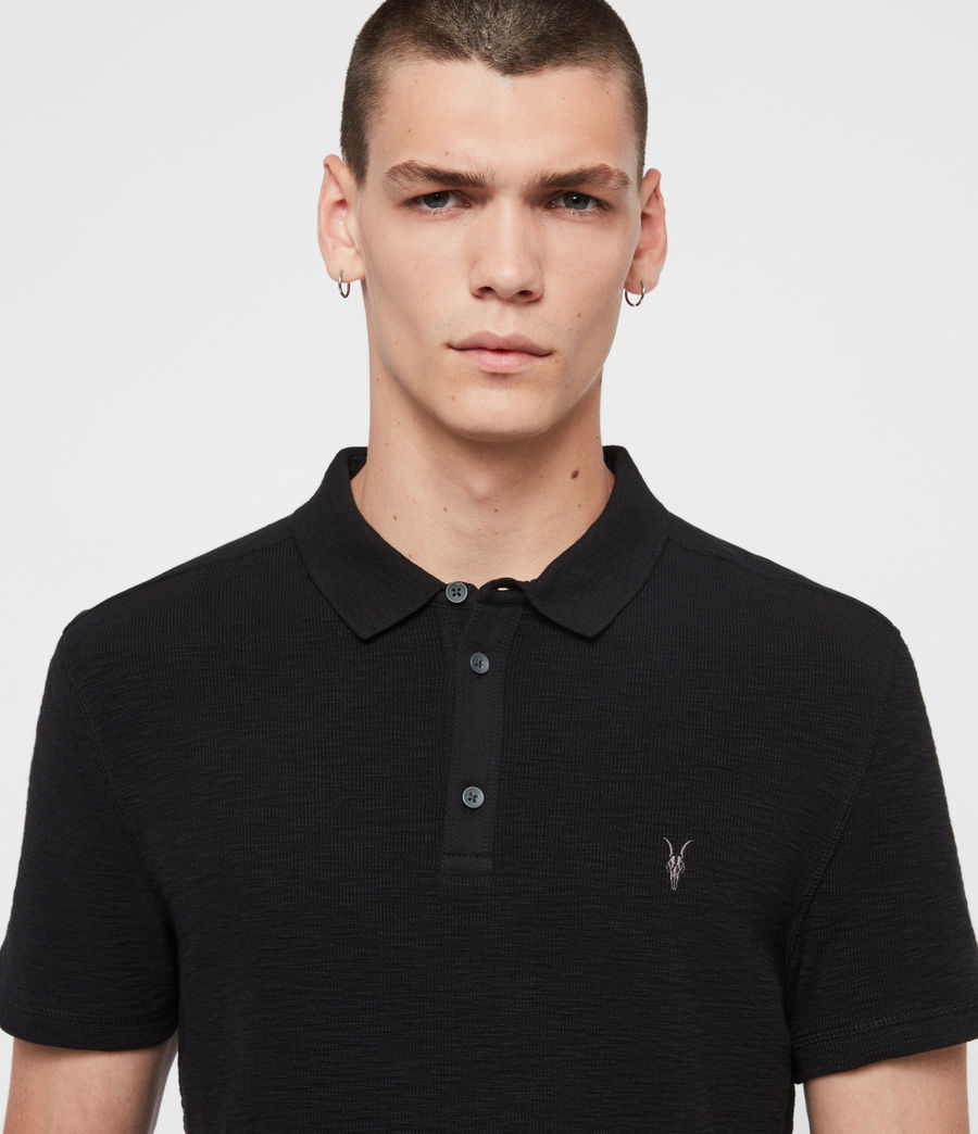 Uomo Polo Muse - Slim in cotone a maniche corte (optic_white) - Image 2