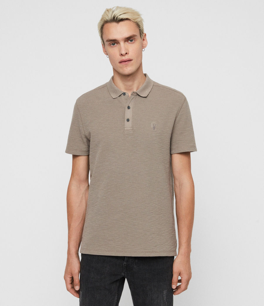 Men's Muse Short Sleeve Polo Shirt (optic_white) - Image 1