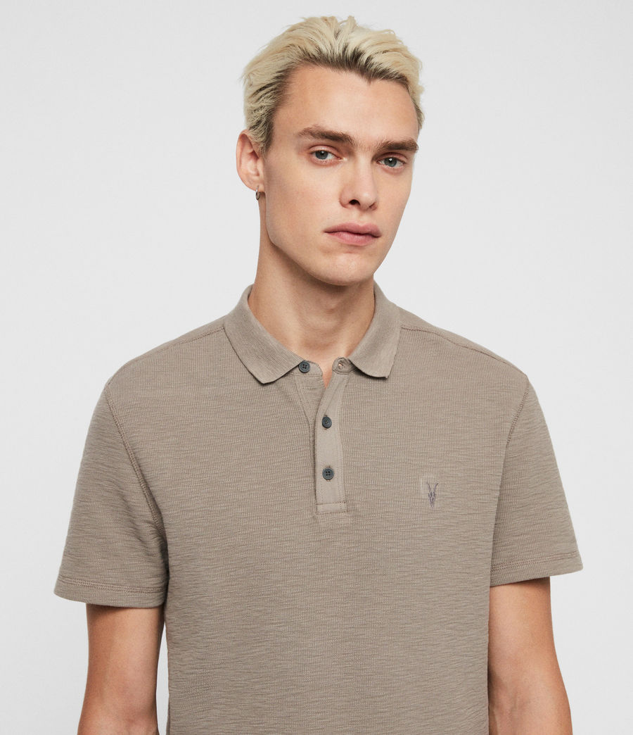 Men's Muse Short Sleeve Polo Shirt (flint_grey) - Image 2