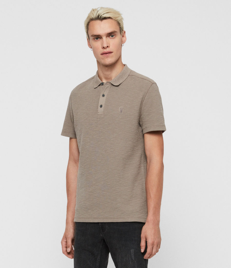 Men's Muse Short Sleeve Polo Shirt (optic_white) - Image 3