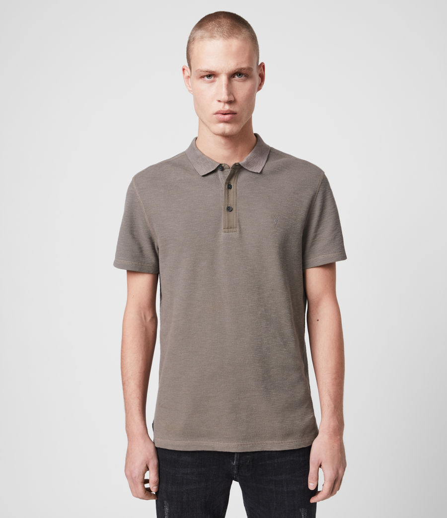 Mens Muse Short Sleeve Polo Shirt (tile_grey) - Image 1