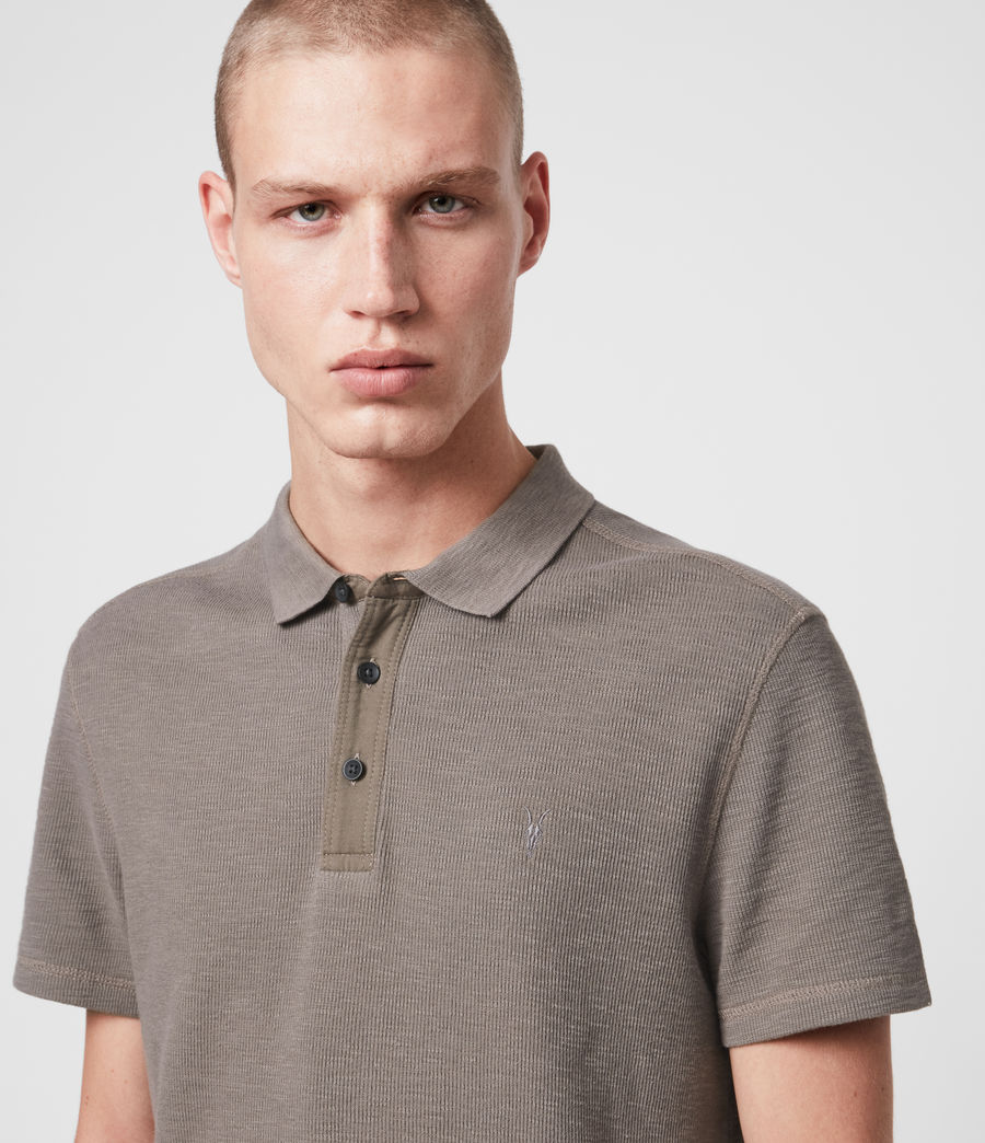 Mens Muse Short Sleeve Polo Shirt (tile_grey) - Image 2