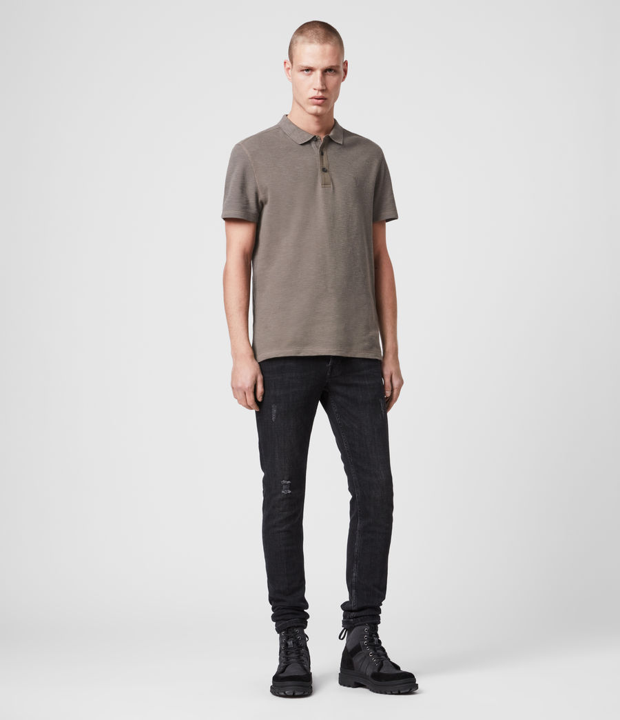 Mens Muse Short Sleeve Polo Shirt (tile_grey) - Image 3