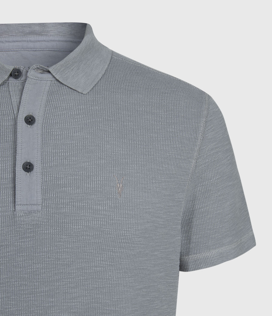 Uomo Polo Muse - Slim in cotone a maniche corte (flint_grey) - Image 3