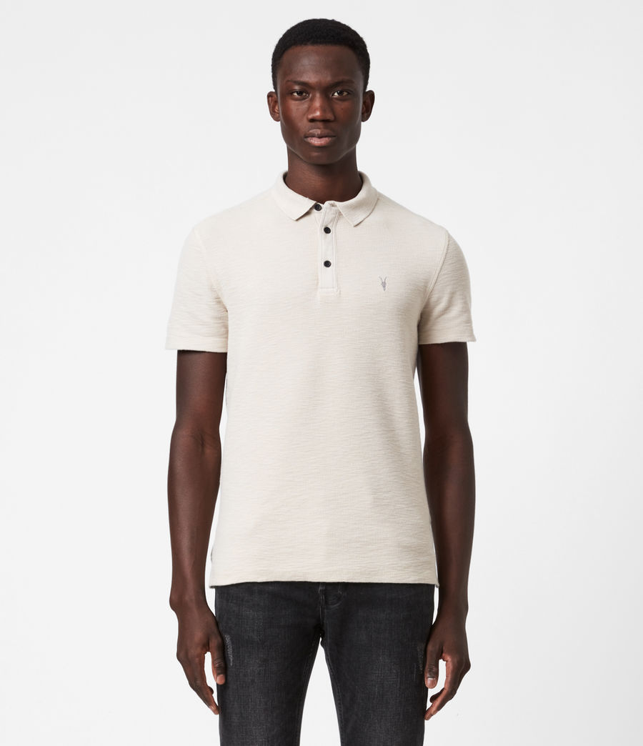 Mens Muse Short Sleeve Polo Shirt (optic_white) - Image 1