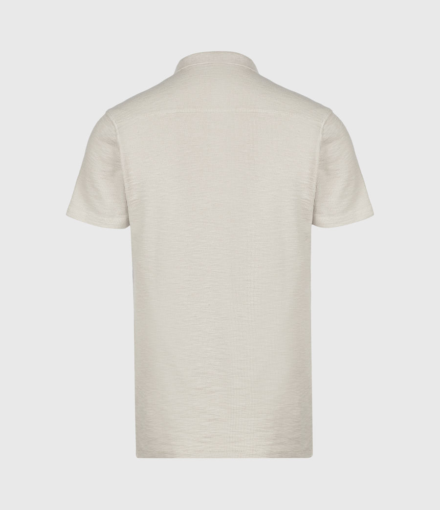 Mens Muse Short Sleeve Polo Shirt (optic_white) - Image 3