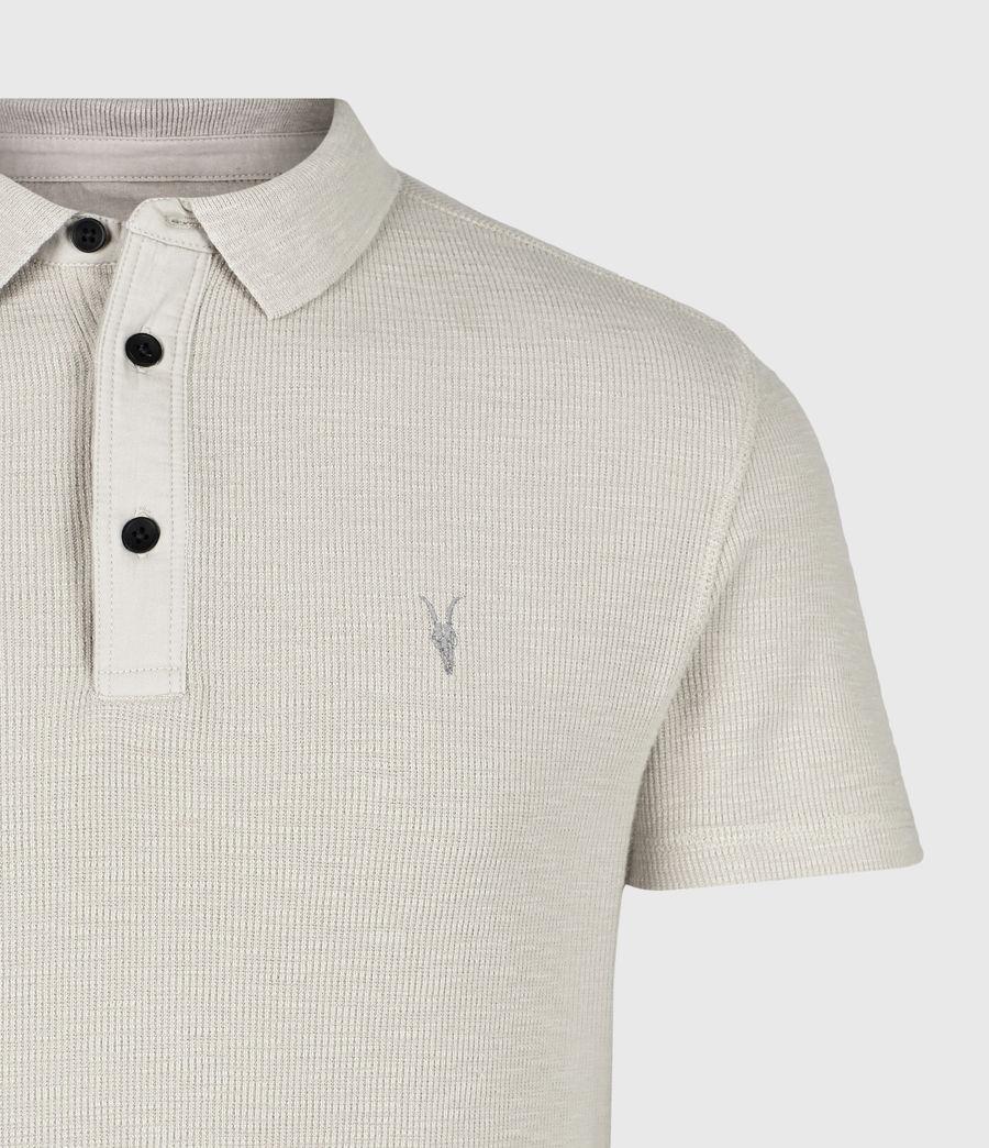 Mens Muse Short Sleeve Polo Shirt (optic_white) - Image 5