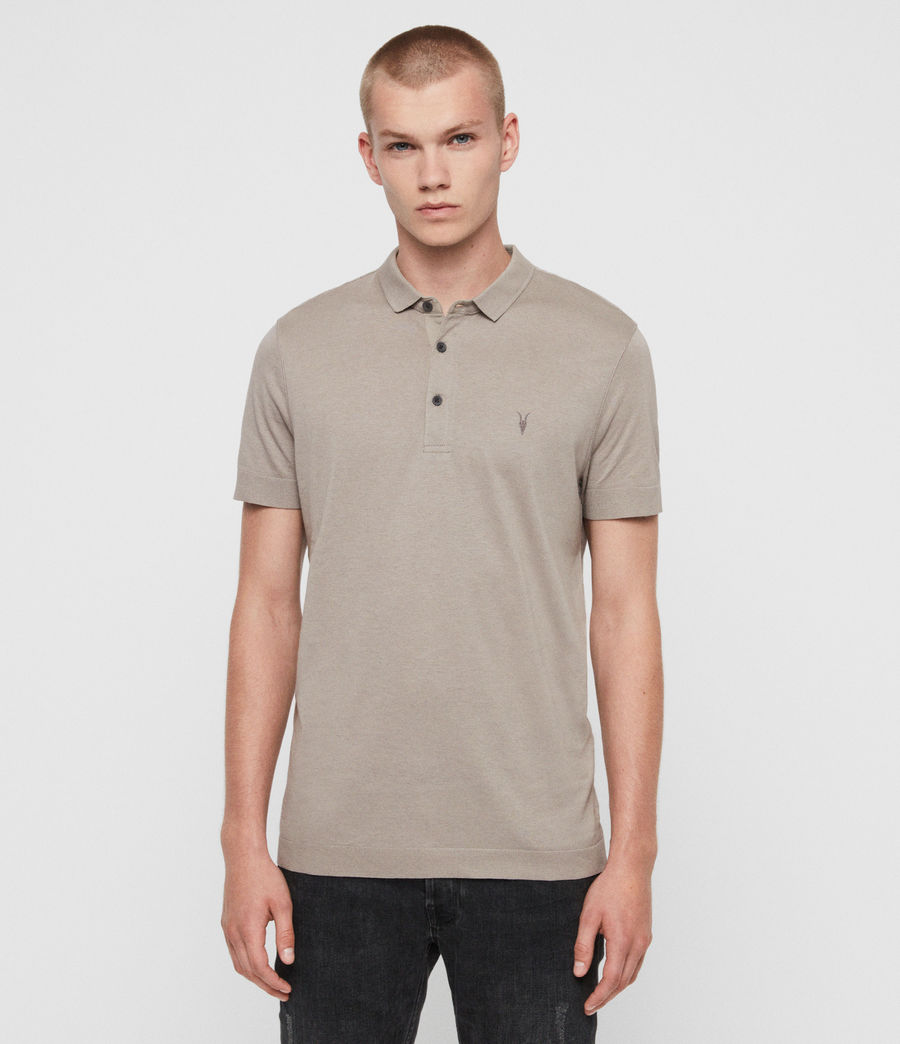 Herren Parlour Short Sleeve Polo Shirt (cement_grey) - Image 1
