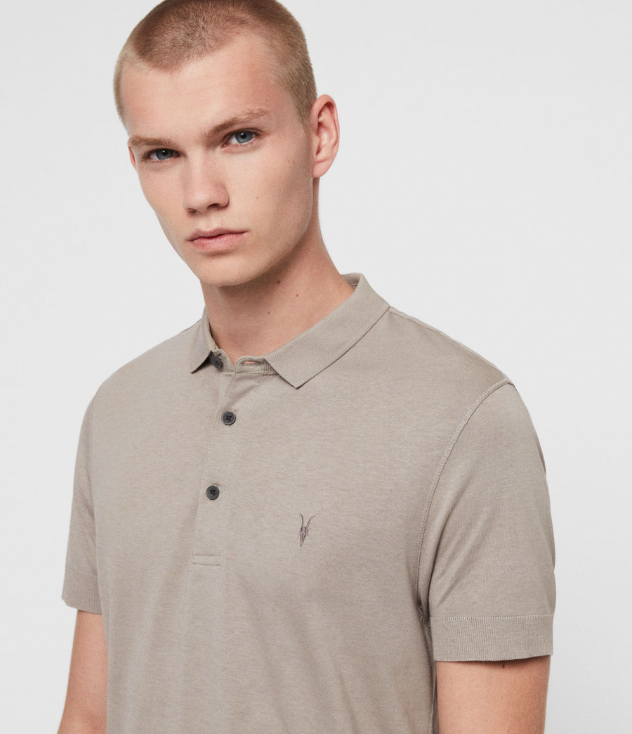 Herren Parlour Short Sleeve Polo Shirt (cement_grey) - Image 2