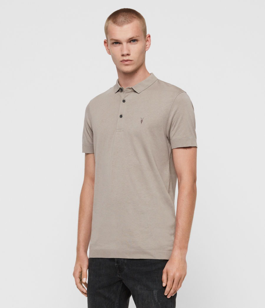 Herren Parlour Short Sleeve Polo Shirt (cement_grey) - Image 3