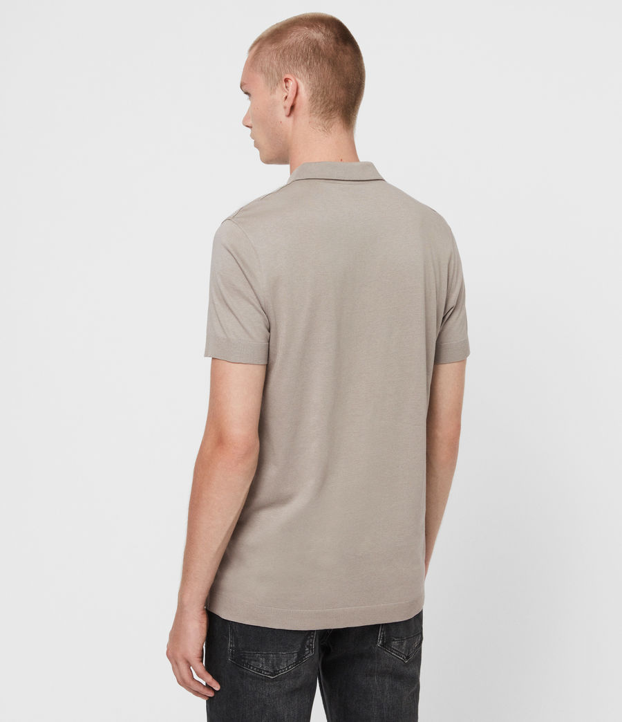 Herren Parlour Short Sleeve Polo Shirt (cement_grey) - Image 4
