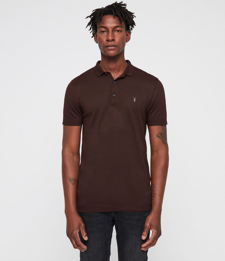 Mens Parlour Polo (oxblood_red) - Image 1