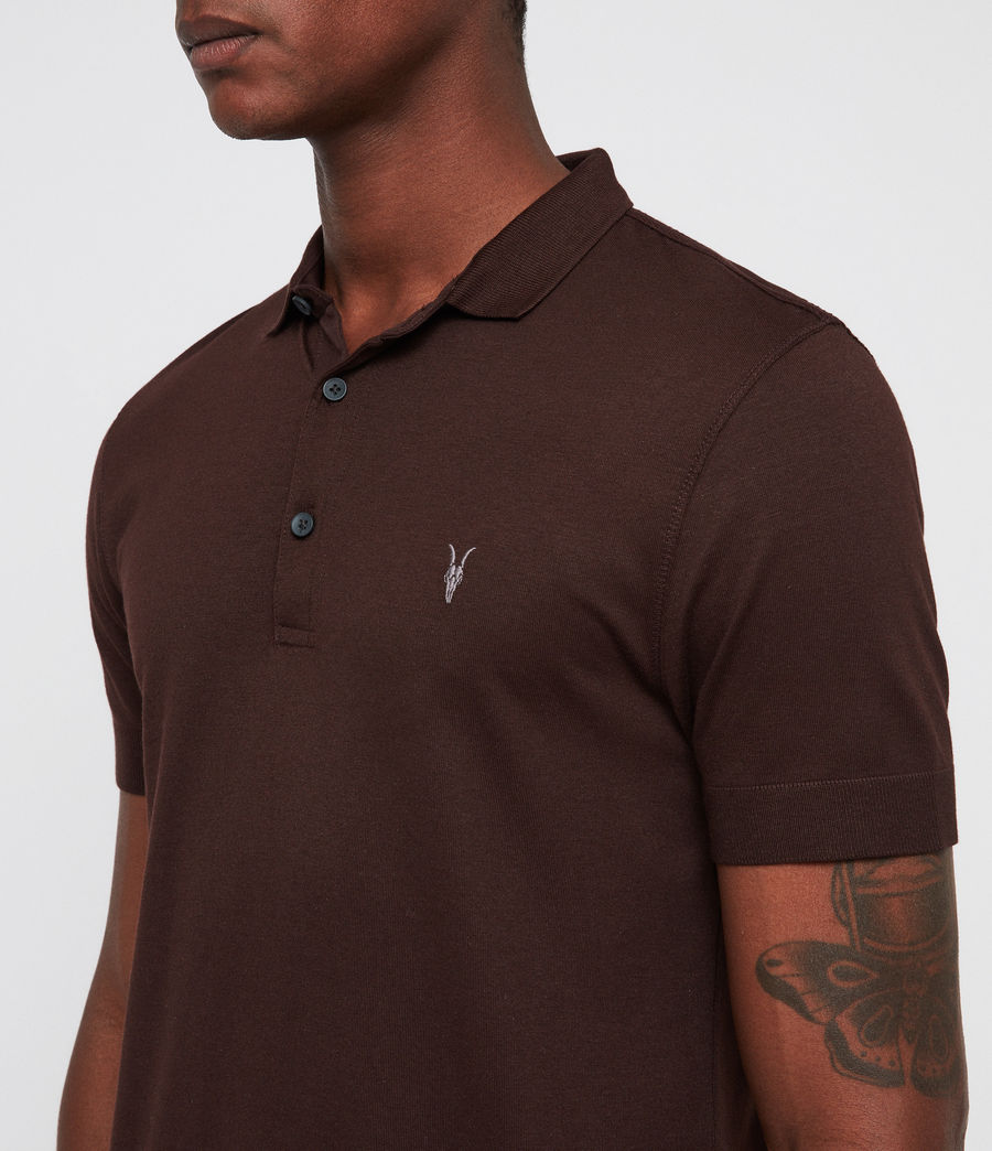 Mens Parlour Polo (oxblood_red) - Image 2