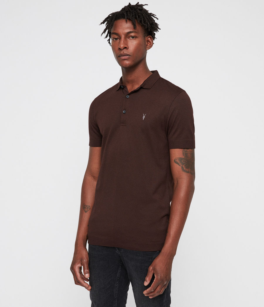 Mens Parlour Polo (oxblood_red) - Image 4