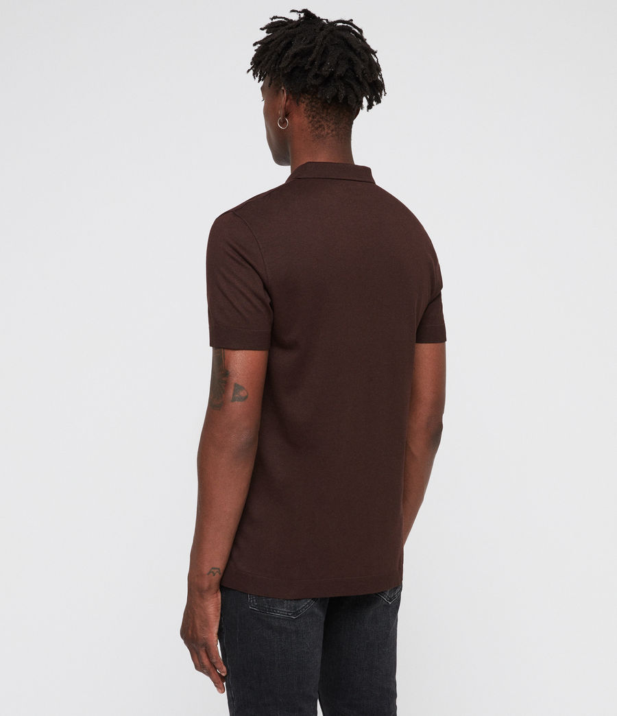 Mens Parlour Polo (oxblood_red) - Image 5
