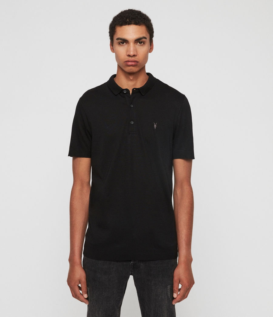Herren Parlour Short Sleeve Polo Shirt (jet_black) - Image 1