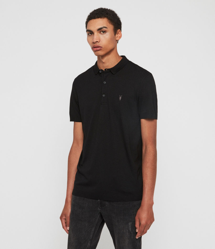 Herren Parlour Short Sleeve Polo Shirt (jet_black) - Image 2
