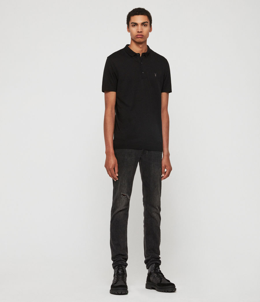 Herren Parlour Short Sleeve Polo Shirt (jet_black) - Image 4