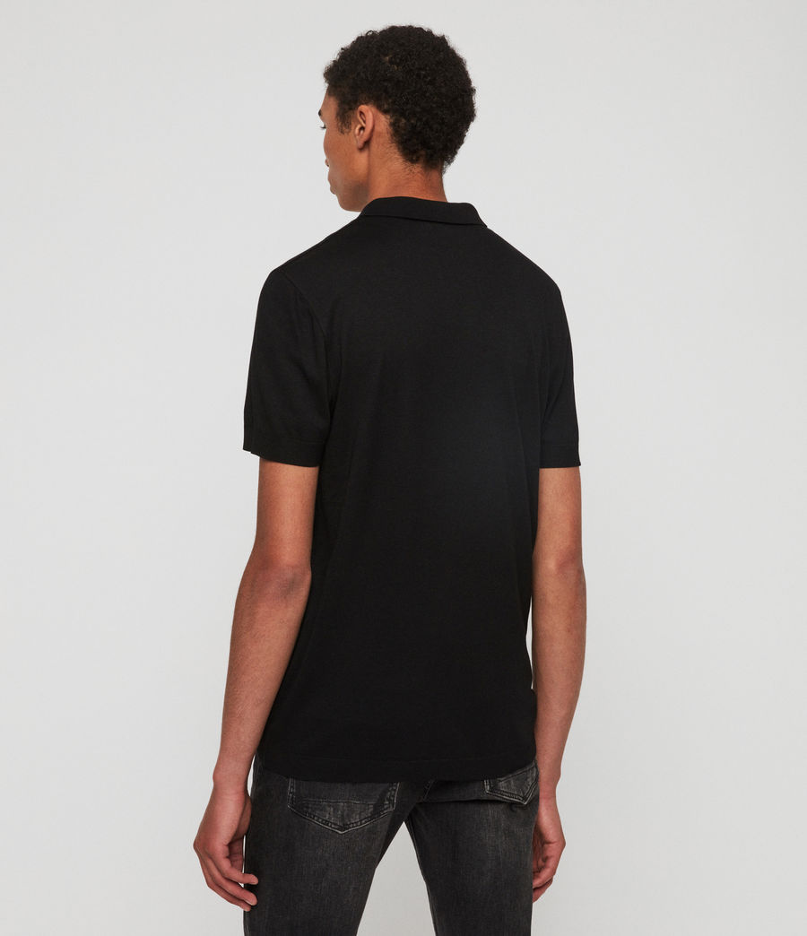 Herren Parlour Short Sleeve Polo Shirt (jet_black) - Image 5