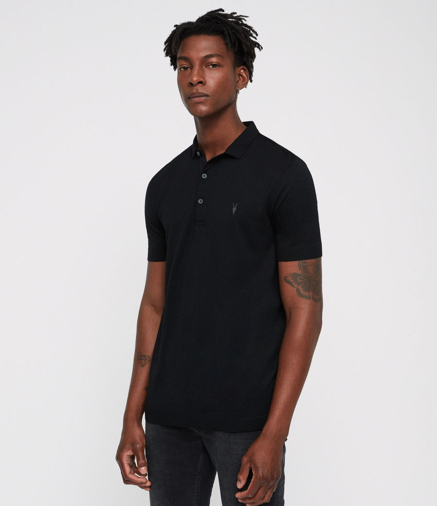 Mens Parlour Polo Shirt (black) - Image 1