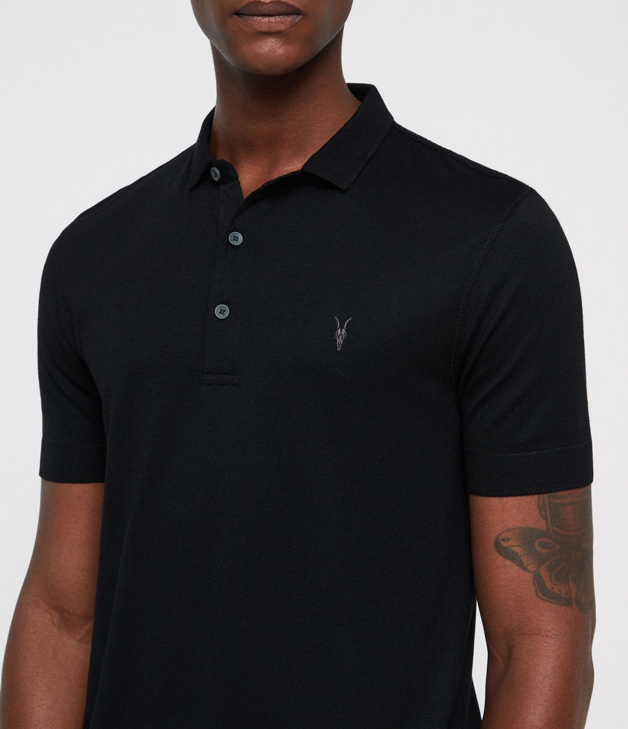 Mens Parlour Polo Shirt (black) - Image 3